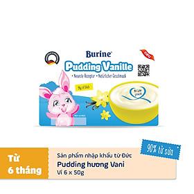 Pudding ăn dặm Burine Vị Vani - Nhập khẩu Đức (Vỉ 6 hũ x 50g)