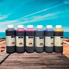 Bộ ( 6 màu/ 6 chai 500ml ) mực in phun màu dùng cho máy in phun Epson T50/T60/1390/1430? L1800....