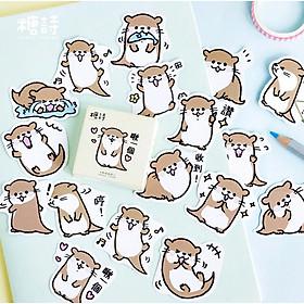 Hộp 45 Miếng Dán Sticker Trang Trí Chú Rái Cá