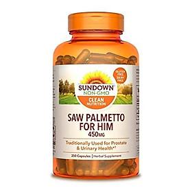 Sundown Naturals Saw Palmetto 450 mg, 250 Capsules