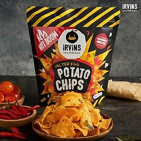 Khoai tây trứng muối cay 105g IRVINS - Small Hotboom Salted Egg Potato Chips