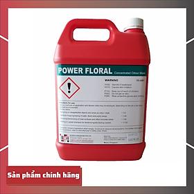 Nước lau sàn bệnh viện khử mùi Power floral Can 5l Singapore [Chính hãng Klenco]