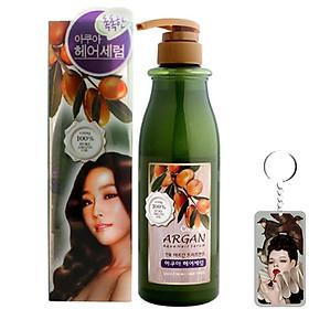 Dưỡng tóc thảo dược Argan cấp ẩm và hỗ trợ điều trị tóc khô hư tổn Confume Treatment Aqua Hair Serum 500ml tặng móc khóa