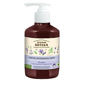 Dung dịch vệ sinh phụ nữ kháng viêm cây xô thơm Zelenaya Apteka Gentle intime soap salvia 370ml