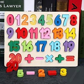 Bảng  chữ số nổi- đồ chơi Gỗ Giáo Dục Mykids