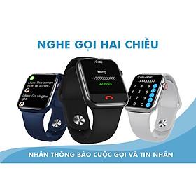 Đồng hồ thông minh Hw16 màn hình siêu sắc nét IPS 1.72 , thay hình nền tùy ý , nghe gọi trực tiếp , chống nước , pin trâu 3-5 ngày