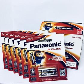 Bộ 6 vỉ (12 viên pin) pin Kiềm Alkaline Panasonic AAA LR03T/2B-Hàng chính hãng