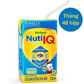 Biểu đồ lịch sử biến động giá bán Thùng 48 hộp Sữa Bột Pha Sẵn Nuti IQ Gold 110ml