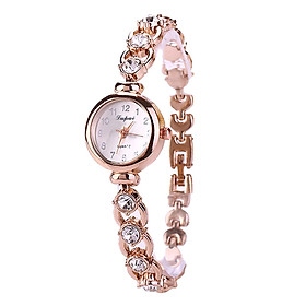 Fashion Quartz Watch Crystal Alloy Bracelace Ladies Bracelace Watch Women Wrist Watch