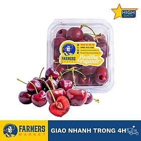 [Chỉ Giao HCM] - Cherry Đỏ Mỹ Size 10 (250G) - Cuống tươi xanh, trái đỏ tươi bắt mắt, thịt giòn nhẹ, cherry đầu mùa có vị chua nhẹ