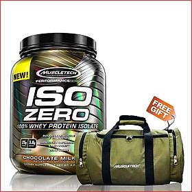 Sữa Tăng Cơ MuscleTech Iso Zero 4lbs (1.8kg) – Protein tinh khiết hấp thụ nhanh – Hỗ trợ phục hồi, phát triển cơ bắp cho người chơi thể hình và thể thao - Hương Chocolate – Hàng chính hãng - tặng miễn phí túi Gym cao cấp