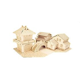 Đồ chơi lắp ráp gỗ 3D Mô hình Nhà Giang Nam A