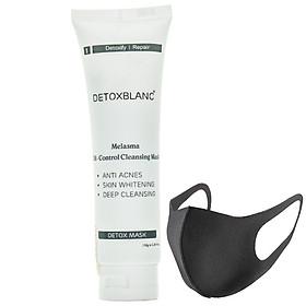 Mặt Nạ Thải Độc Trắng Da Công Nghệ Than Hoạt Tính Detox Mask (Pháp) - Tặng Kèm Khẩu Trang Chống Nắng Than Hoạt Tính Cực Xịn