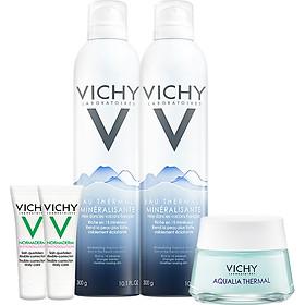 Bộ đôi xịt khoáng dưỡng da Vichy Mineralizing Thermal Water