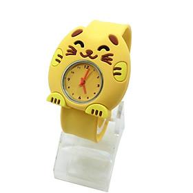 Đồng hồ Silicon Mèo vàng đáng yêu cho bé