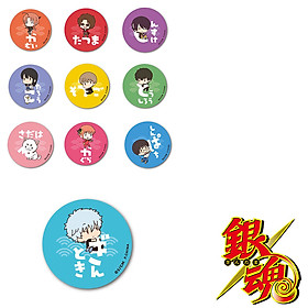 Combo 10 huy hiệu GINTAMA - LINH HỒN BẠC anime chibi dễ thương