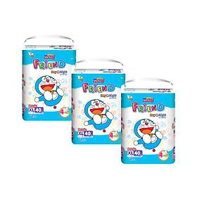 Combo 3 gói Tã quần Goo.n Friend XL40 thiết kế mới - tặng đồ chơi Toys house-0
