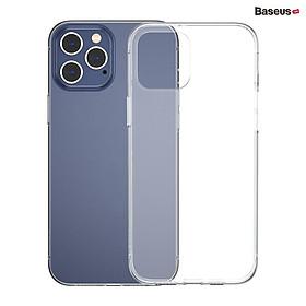 Ốp lưng trong suốt Baseus Simple Case dùng cho iPhone 12 mini / iPhone 12 / iPhone 12 Pro / iPhone 12 Promax (Ultra Slim, High Transparent, Soft TPU Silicone)_ Hàng Nhập Khẩu