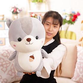 Gấu Bông Sóc Mềm Đáng Yêu 30cm TNB246  Màu Xám
