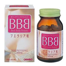 Viên uống nở ngực BBB Best Beauty Body Orihiro Nhật Bản giúp tăng kích thước và săn chắc ngực, 300 viên/hộp dùng trong 1 tháng, HÀNG CHÍNH HÃNG