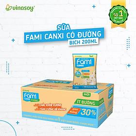 Thùng Sữa Đậu Nành Vinasoy Fami Canxi (200ml x 40 Bịch)