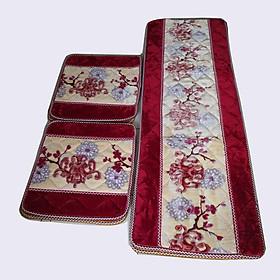 Bộ thảm lót ghế salong 3 miếng lông nhung mượt( 1 miếng dùng cho ghế dài; 2 miếng vuông dùng cho ghế vuông bé), dày 2cm