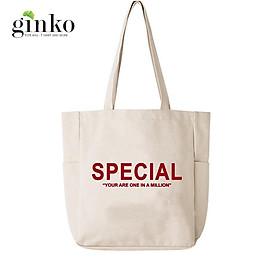 Túi Vải Tote Ginko Unisex Phong Cách Hàn Quốc In Hình YOU ARE SPECIAL K05