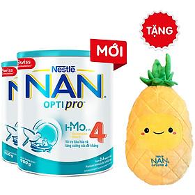 Combo 2 Lon Sữa Bột Nestlé NAN OPTIPRO 4 HM-O 900g + Tặng Gối Ôm Trái Thơm