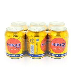 Lốc 6 Lon Nước Tăng Lực HINO (250ml/Lon)