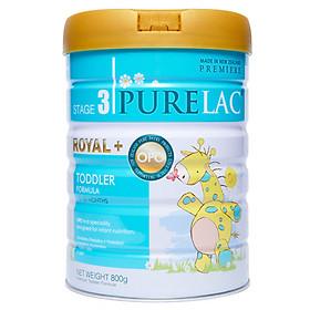Sữa bột công thức PureLac nhập khẩu New Zealand hộp 800gr cho bé từ 12 dến 24 tháng