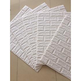 Miếng dán tường kim tuyến xốp dán giả da 3d hoa văn có keo sẵn