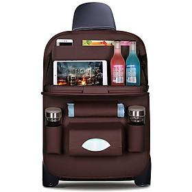 Túi Treo đồ trên ô tô, tấm da để đồ sau ghế ô tô  LT110
