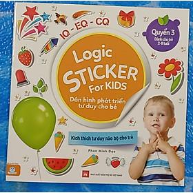 Logic Sticker for kids - Dán hình phát triển tư duy cho bé - quyển 3