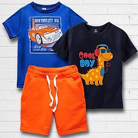 Combo Quần và áo màu xanh in hình cực chất cho bé Trai thương hiệu TAMOD.