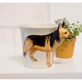 Ly Uống Nước Hình Chó 3D Dễ Thương - Ly Cốc Sứ Kiểu Dáng Sáng Tạo Độc Đáo