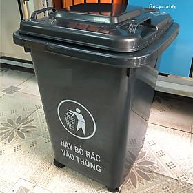 Hình ảnh Thùng rác nhựa 60 lít màu đen