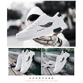 Giày Nam Thể Thao Sneaker Vải Dệt Cực Chất Đế Cao Su Nguyên Khối Siêu Êm Họa Tiết Lông Vũ CTS-GN026-4