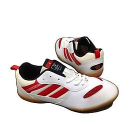 Giày Cầu Lông Giày Bóng Chuyền Bóng Bàn Màu Trắng Sọc Đỏ