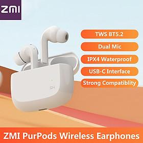 Tai Nghe Không Dây TWS BT5.2 Nhét Trong Tai Có Micrô Kép Giảm Tiếng Ồn Chống Nước IPX4 Giao Diện USB-C 490mah ZMI Purpods