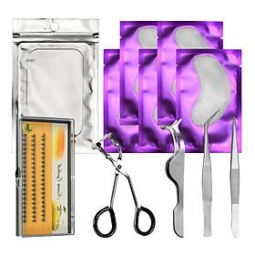 11pcs Eyelash Extension Set-Eyelash Pads/Tweezer/Lashes/Curler/Lash Holder