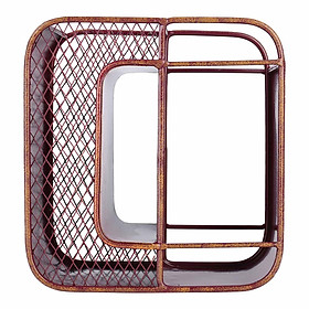 Tooarts Letter-O Wine Rack Tabletop Decorative Wine Rack Sturdy Iron Material Display and Store Rack Home Decor Letter H