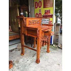 Bàn thờ nhị cấp  - bàn thờ gia tiên 2  tầng gỗ tràm 88