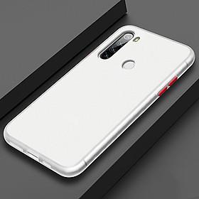 Ốp lưng cho Xiaomi Redmi Note 8 trong nhám viền màu
