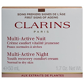 Clarins Multi-Active Night Comfort Cream Normal/Dry Skin 50ml