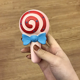 Squishy kẹo mút đính nơ, squishy chậm tăng mùi thơm dịu nhẹ, đồ chơi cho bé trai và bé gái