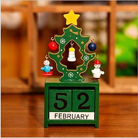 Lịch gỗ để bàn chủ đề Giáng Sinh