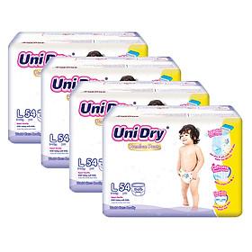 Combo 4 Tã Quần UniDry Premium L54 (54 Miếng)
