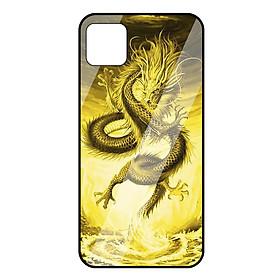 Ốp lưng Vina Case cho Realme C11 rồng vàng mặt kính 9H-Hàng Chính Hãng