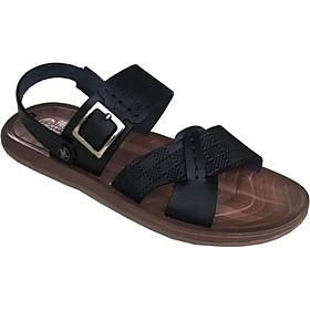 Dép sandal nam màu  đen da bò cao cấp Trường Hải SDN0123