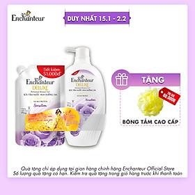 Sữa tắm nước hoa Enchanteur Sensation 900gr + Túi Sữa tắm 450gr NYP